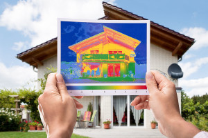 Infrared Image of Home Exterior